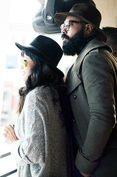 Men women Style hat beard love is in the wear