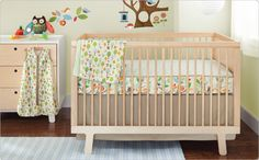 bumper free crib bedding...