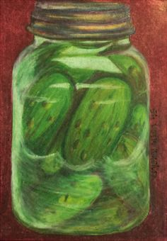 Pickles In A Jar ATC