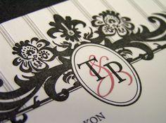 Letterpress Monogram www.cameleon-design.ca