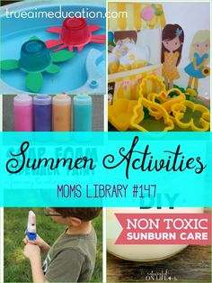 Summer Activities and Moms Library Crab Crafts, Fun Crafts, Summer Fun For Kids, Diy For Kids, Turtle Crafts, Fun Summer Activities, Preschool Science, Beach Fun, Mom Blogs