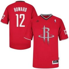 3aec22bb3 Dwight Howard Swingman In Red Adidas NBA Houston Rockets 2013 Christmas Day   12 Men s Jersey