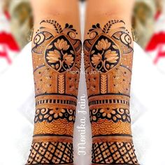Indian Mehndi Designs, Modern Mehndi Designs, Mehndi Design Photos, Wedding Mehndi Designs, Hand Embroidery Patterns Flowers, Henna Patterns, Henna Animals, Mehndi Desighn, Heena Design