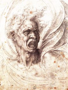 Michelangelo Drawings Sketches | The Damned Soul