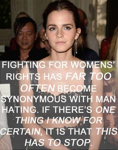 Emma Watson's definition of feminism will help others understand what gender equality means. #feminism #inspiring