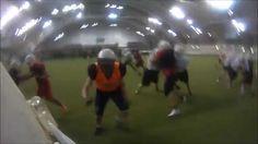 Kuopio Steelers, football practice session at Kuopio-halli.