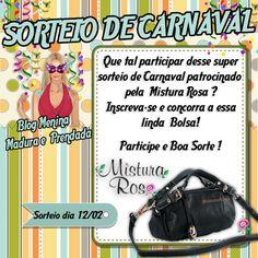 #O Blog Menina Madura e Prendada  Parceria c/a Mistura Rosa Artigos Femininos, sortearão um linda bolsa. Participe.