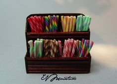 Miniature Colorful Candy Stick Display by Erika Van Horne
