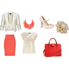 Spring Time Work Outfit, created by katie-rhoad on Polyvore