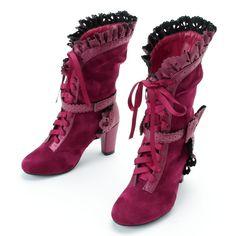 ブーツ(クラシカルフリルブーツ) | クイーンビー(Queen Bee) | ファッション通販 マルイウェブチャネル