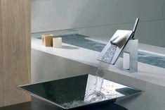 Pias modernas dão toque bastante especial para banheiros e lavabos. #ficaadica