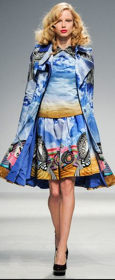 Manish Arora FW 2013 - love jacket, top & skirt but probably  wouldn't were them together