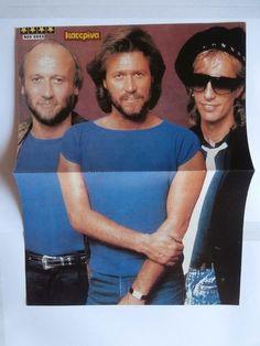 Bee Gees La Toya Jackson Mini Poster Greek Magazines clippings 80s 90s   eBay