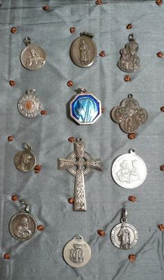 Antique and Vintage French Religious Medals.