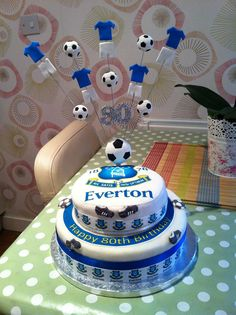 Everton Football Birthday Cakes