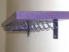 Bracelet Organizer Ideas for Small Room with purple color (or cheer bows!)