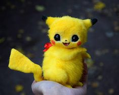 Hand made stuffed toys by GakmanCreatures on Etsy Pikachu Drawing, Pikachu Art, Cute Pikachu, Baby Animals Super Cute, Cute Little Animals, Pokemon Dolls, Baby Animals Pictures, Cute Cartoon Wallpapers, Anime Animals