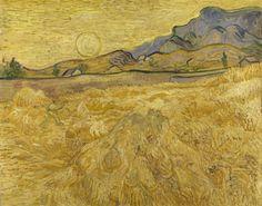 Afbeeldingsresultaat voor van gogh korenveld met maaier en zon kroller muller
