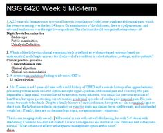 NSG 6420 MIDTERM EXAM 1 – QUESTION AND ANSWERS
