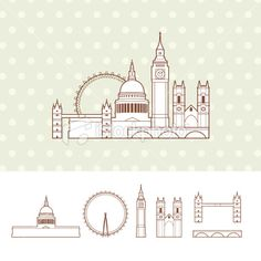 City of London Royalty Free Stock Vector Art Illustration