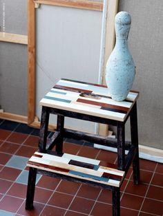 IKEA 'Bekväm' Stool hack - could use it as a bedside table