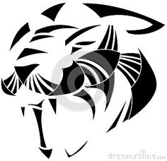 Illustration representing a panther face isolated. An idea for logos