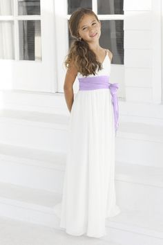 Jr. bridesmaid dress but with red sash
