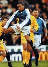 Man City 0 Leeds Utd 4 in Jan 2001 at Maine Road. Action as City get heavily beaten at home again #Prem