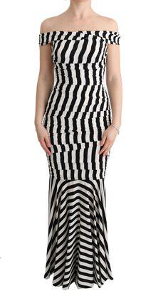 dolce  gabbana black floral lace long bodycon maxi dress