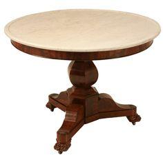 Stunning Antique French Mahogany Center Hall Table/Gueridon