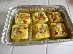 Mini Bacon & Cheese Frittatas for a quick and healthy breakfast (freeze & reheat on busy mornings)