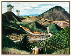 Milling, oil on stretched canvas 1987 by Dick Frizzell. New Zealand Landscape, New Zealand Art, Nz Art, Kiwiana, Lovers Art, Art History, Still Life, Landscape Paintings, Sculptures
