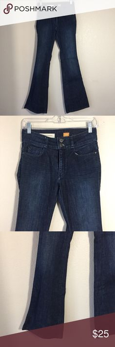 {Anthro} Pilcro High Rise Flare Medium Wash Jeans Used in LIKE NEW condition. No Trades / No PayPal /  Smoke-Free Home / Ask Questions! / No Model Requests Please / Like what you see but dont like the price? MAKE ME AN OFFER! Anthropologie Jeans Flare & Wide Leg