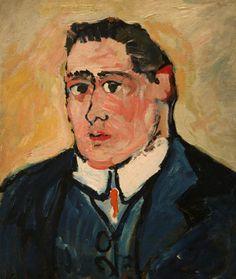 Portrait d'Apollinaire, peint par M. de Vlaminc
