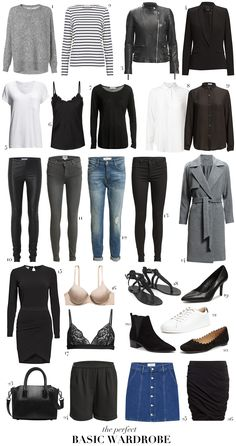 The perfect basic wardrobe | passionsforfashion