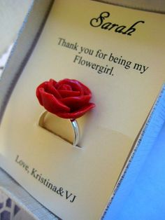 a gift for the flower girl...need to remember that :) - Click image to find more Weddings Pinterest pins  On Etsy for $8.50