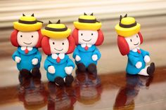 Adore these fondant Madelines by Edible Details in a party styled by The Party Wagon