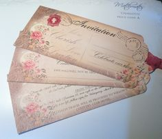 Stunning vintage stationery offering full range of invites place cards table plan etc Invites, Wedding Invitations, Table Plans, Place Cards, Stationery, Range, Prints, Handmade, Vintage