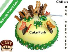 Take a look at the coolest #Butterfly #theme #cakes. You will also find the  wide variety of theme #cakes available at our cake shop.   For more varieties: http://www.cakepark.net Express Booking: 044-45535532