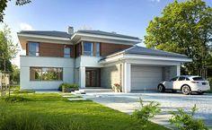 Wyjątkowy 1 - wizualizacja 1 - Projekt nowoczesnego domu piętrowego