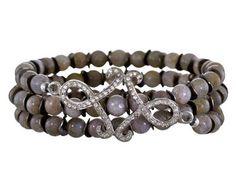 Renee Sheppard | Labradorite and Diamond Pavé Swirl Bracelet in Designers Renee Sheppard Bracelets at TWISTonline