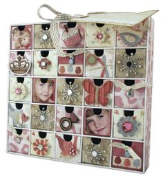 This project uses the Karen Foster Design Countdown Calendar as a girls jewelry box. Project designed by Shaunte Wadley. Girls Jewelry Box, Countdown Calendar, Little Ones, Living Spaces, Scrapbook, Holiday Decor, Crafts, Manualidades, Scrapbooking