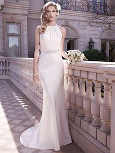 Elegant White beading wedding dress bridal halter wedding gown long mermaid wedding dresses ball gown evening dress