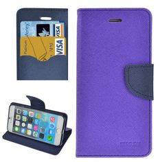 For iPhone 5/5S/SE Purple Cross Texture Leather Case with Holder & Card Slots & Wallet