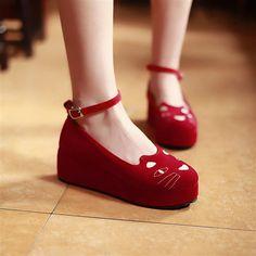 Cat cute flatforms shoes fashion kawaii - Thumbnail 1 Trail Running Shoes, Wedges, Fashion, Moda, Fasion, Platform Pumps, Wedge, Wedge Sandal