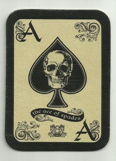 LEATHER ACE of Spades DEATH Card military biker morale Patch