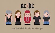 AC/DC - PixelPower - Amazing Cross-Stitch Patterns