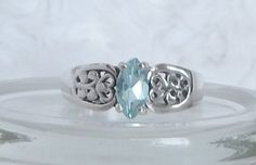 Sterling Silver Sky Blue Topaz Ring Size 7