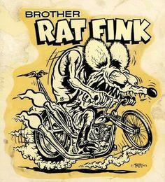 Vintage Brother Rat Fink decal