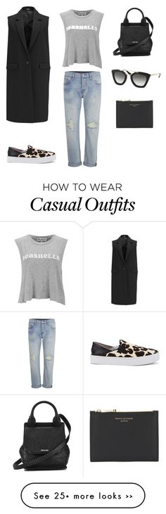 """""""Casual Mondays"""" by coggles on Polyvore featuring Levi's, Wildfox, 2NDDAY, Senso, McQ by Alexander McQueen, Prada and Aspinal of London"""